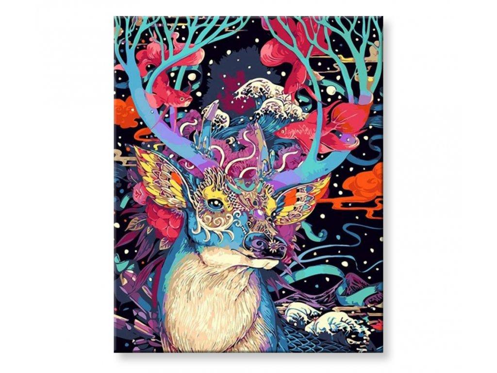 Malování podle čísel - Pohádkový jelen