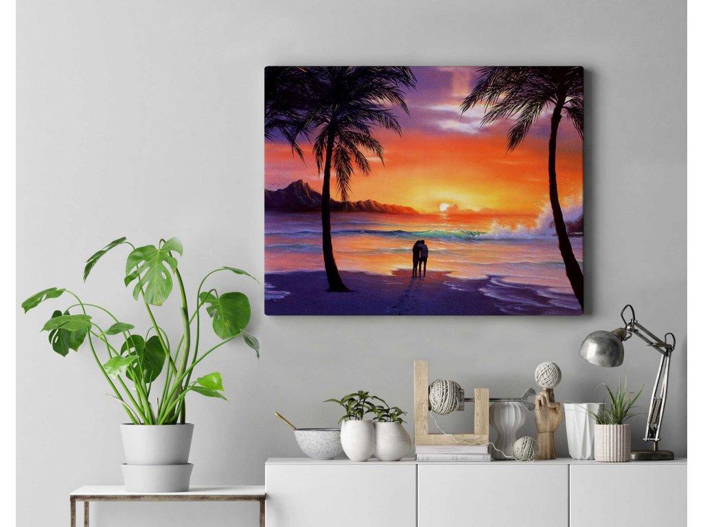 Zamilovaný pár na pláži DZ2571
