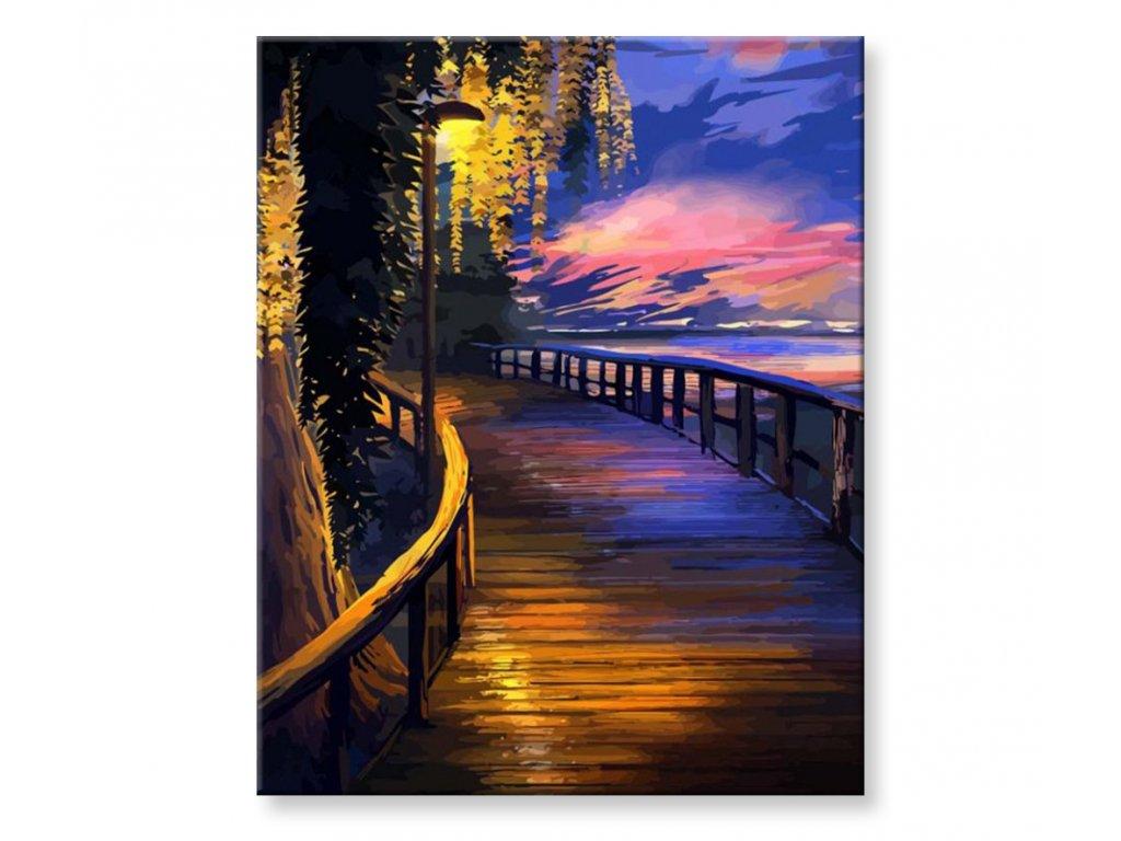 Malování podle čísel - Večerní kolonáda u moře