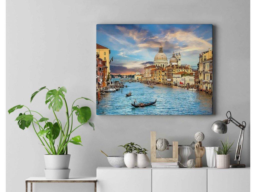 Malování podle čísel - Gondola v Benátkách