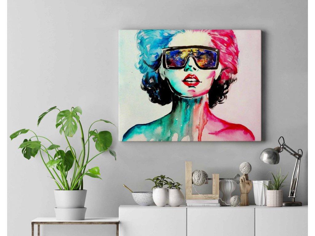 Malování podle čísel - Žena s brýlemi