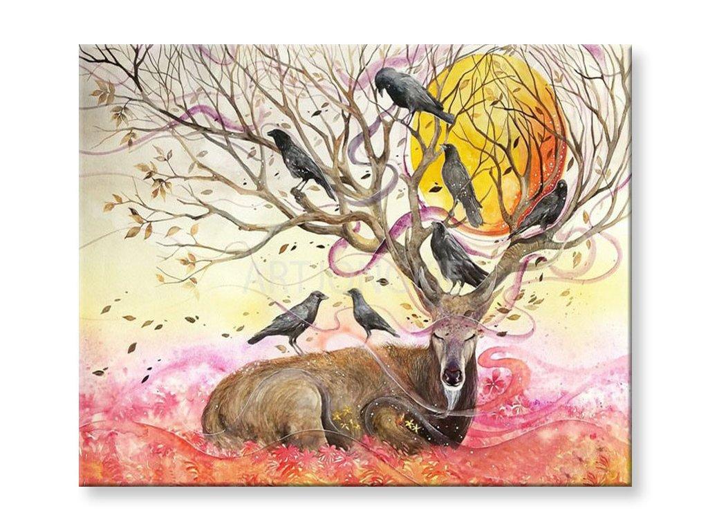 Malování podle čísel - Podzimní jelen