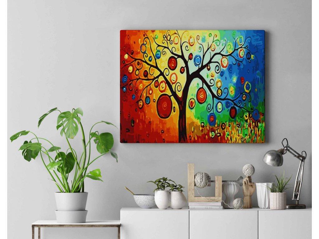 Malování podle čísel - Strom barev