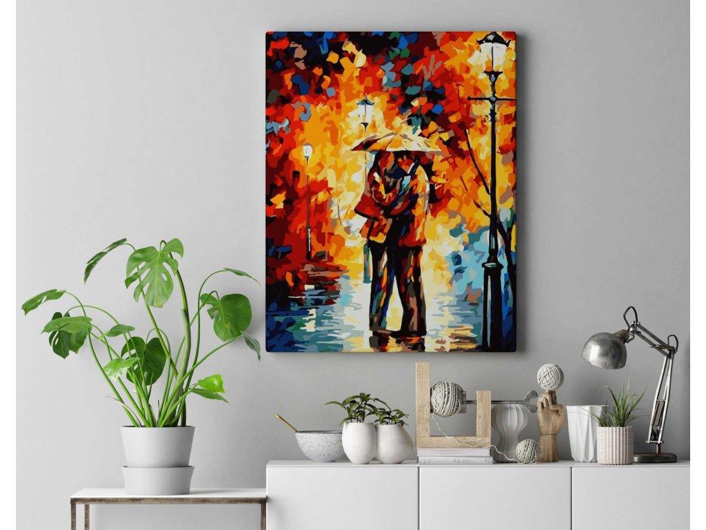 Malování podle čísel - Zamilovaný pár v parku