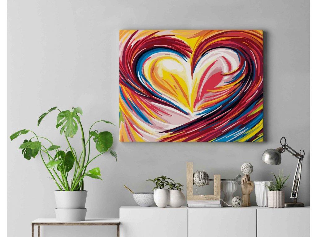 Malování podle čísel - Srdce