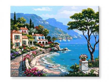 Malování podle čísel - Domy a moře