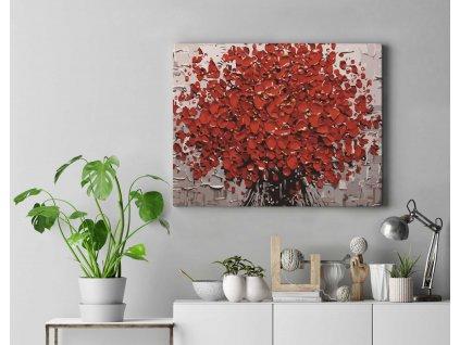 Malování podle čísel - Kytice rudých květů
