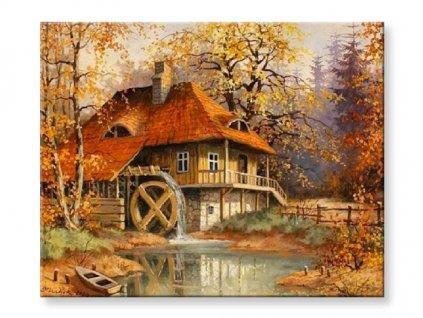 Podzimní mlýn obraz