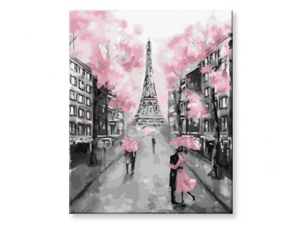 Malování podle čísel - Zamilovaní paříž