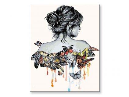 Žena s motýli