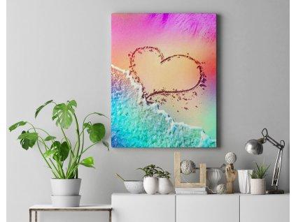 Malování podle čísel - Srdce na pláži