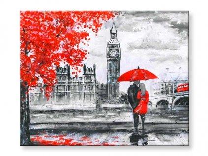 Malování podle čísel - Zamilovaný pár v Londýně