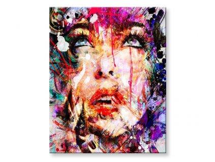 Malování podle čísel - Žena v abstrakci