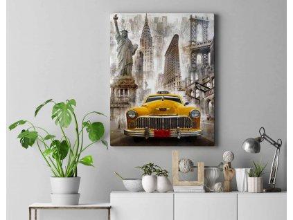 Malování podle čísel - New York Taxi