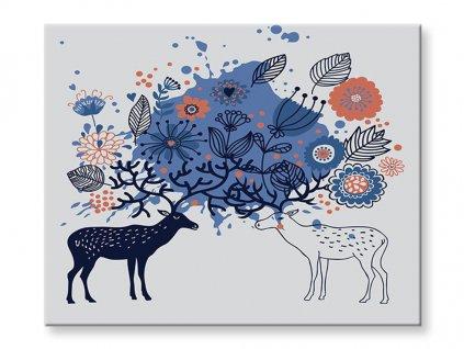 Malování podle čísel - Jeleni
