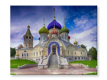 Malování podle čísel - Kostel Proměnění Páně v Peredelkinu