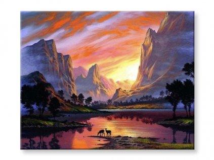zapad slunce v horach 2306