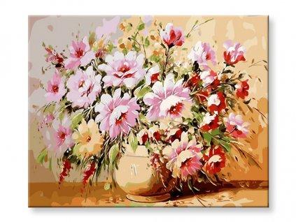 Malování podle čísel - Květina ve váze