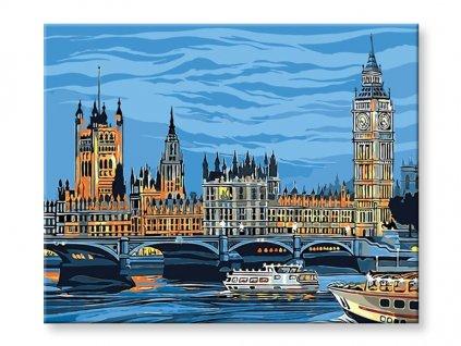Malování podle čísel - Westminster Londýn
