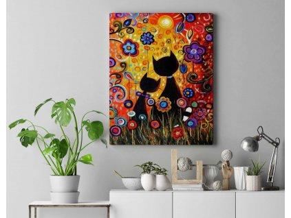 Malování podle čísel - Kočky při západu slunce