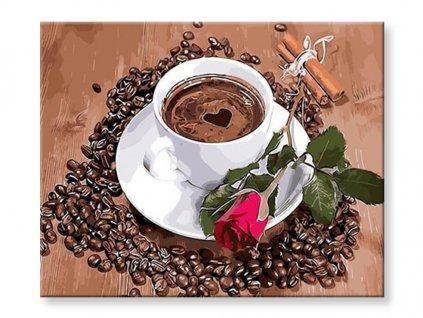 Malování podle čísel - Káva lásky