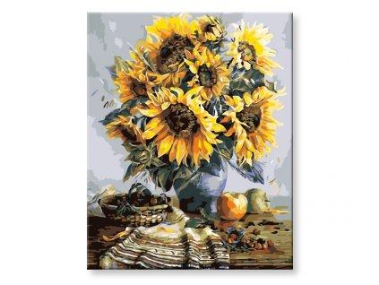 Malování podle čísel - Váza slunečnic
