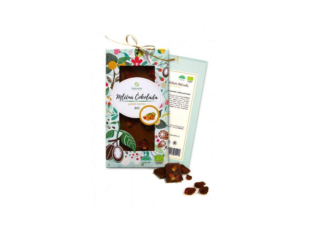 bio cokolada naturalis s golden berries 80g