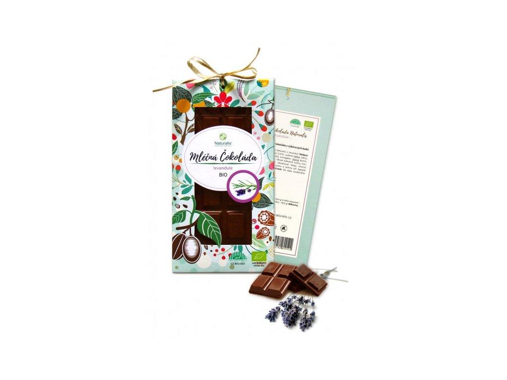 bio cokolada naturalis s levanduli 80g