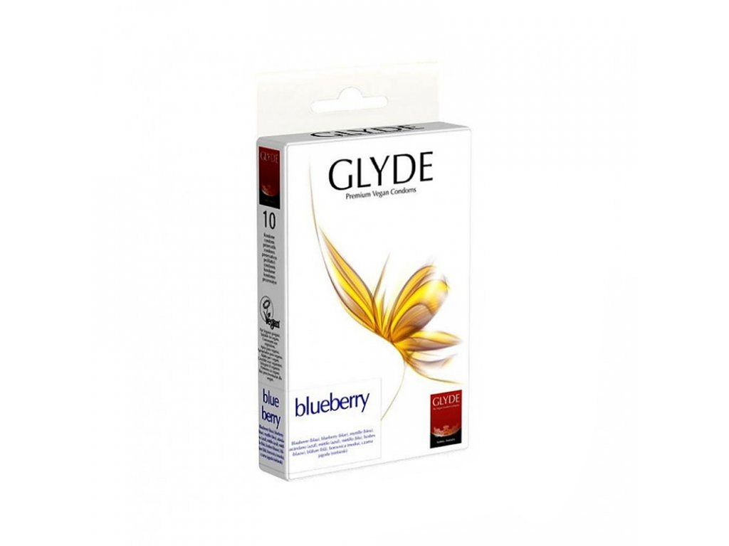 glyde kondom slim blueberry