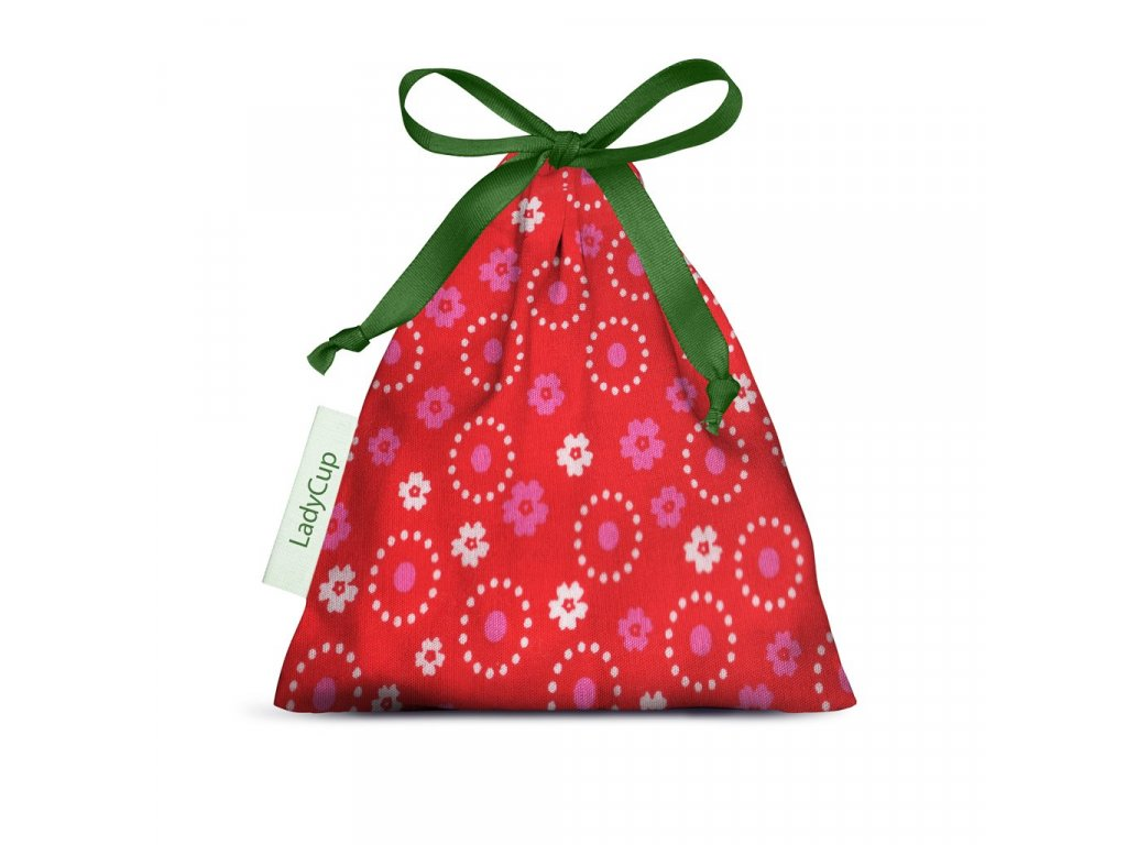 ladycup sacek cervena kolecka