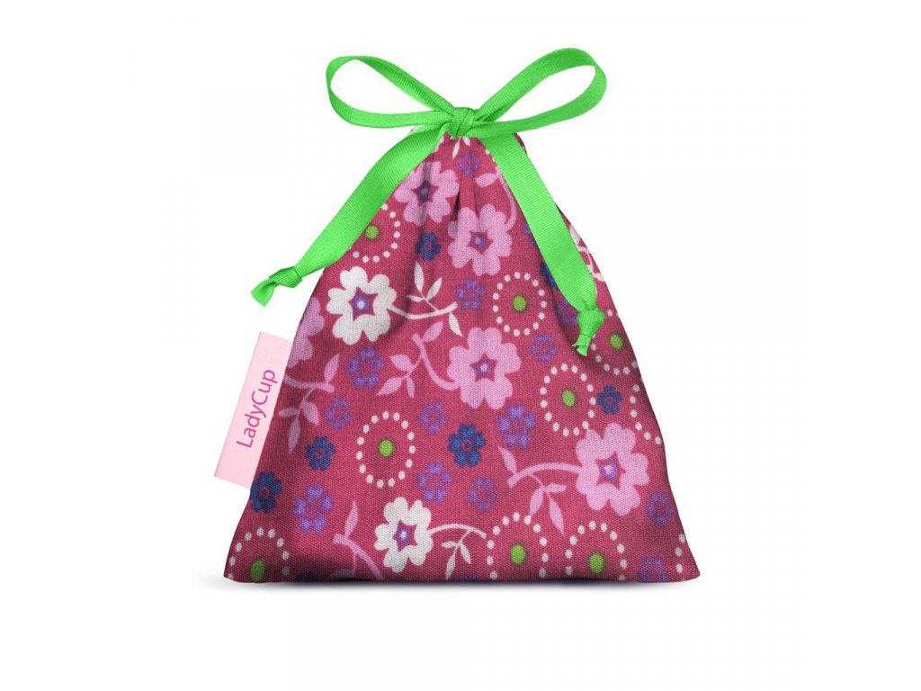 ladycup sacek ruzove kyticky