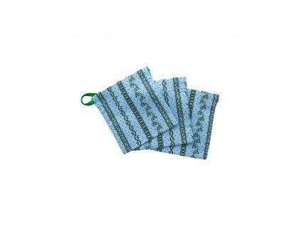 vrecko modre ornamenty