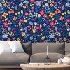 Vzorovaná tapeta roztomilý květinový vzor interier zoom