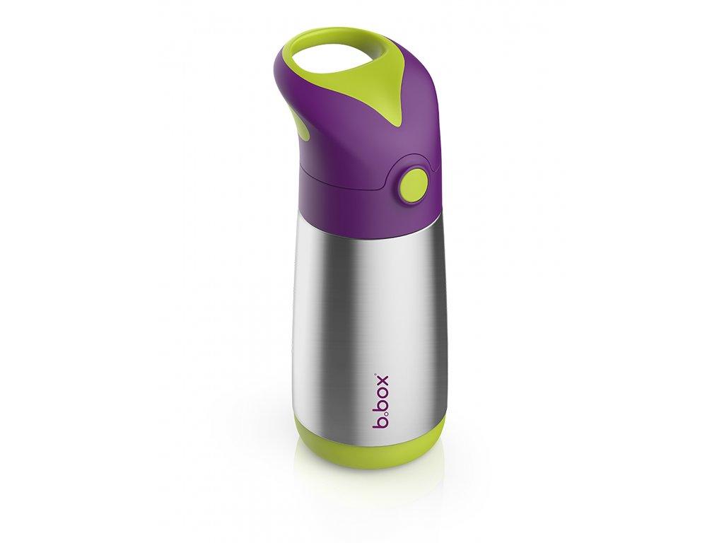termoska na pití s brčkem fialová