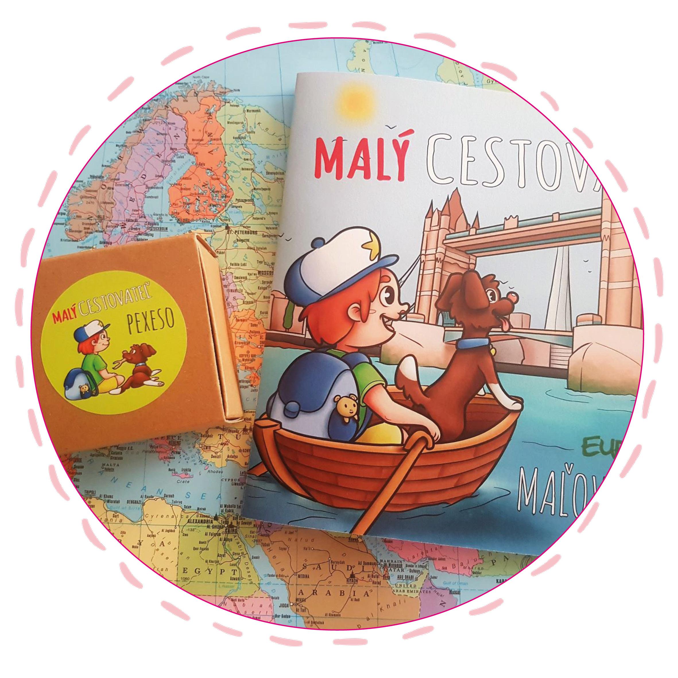 Maľovanka apexeso – dvaja pomocníci knižky Malý cestovateľ – Európa.