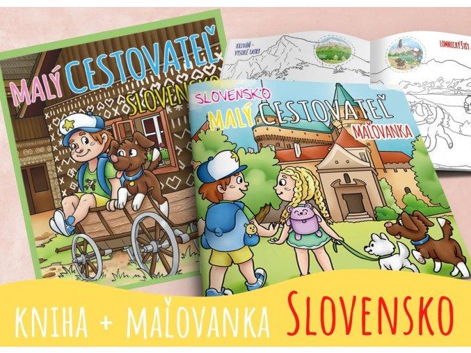 Kniha Slovensko + maľovanka Slovensko