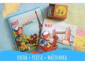 Kniha MALÝ CESTOVATEĽ + MAĽOVANKA + PEXESO - Európa