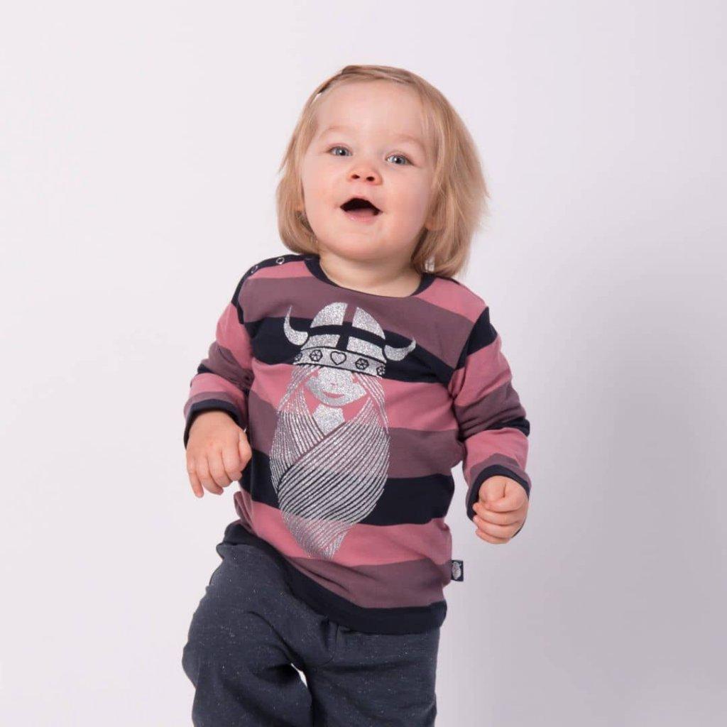 Pruhované tričko Freja baby Danefae