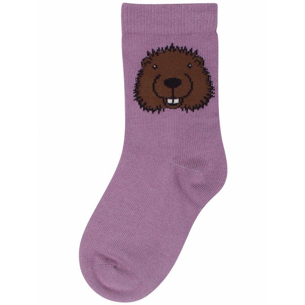 detske ponozky barevne ruzove dyr