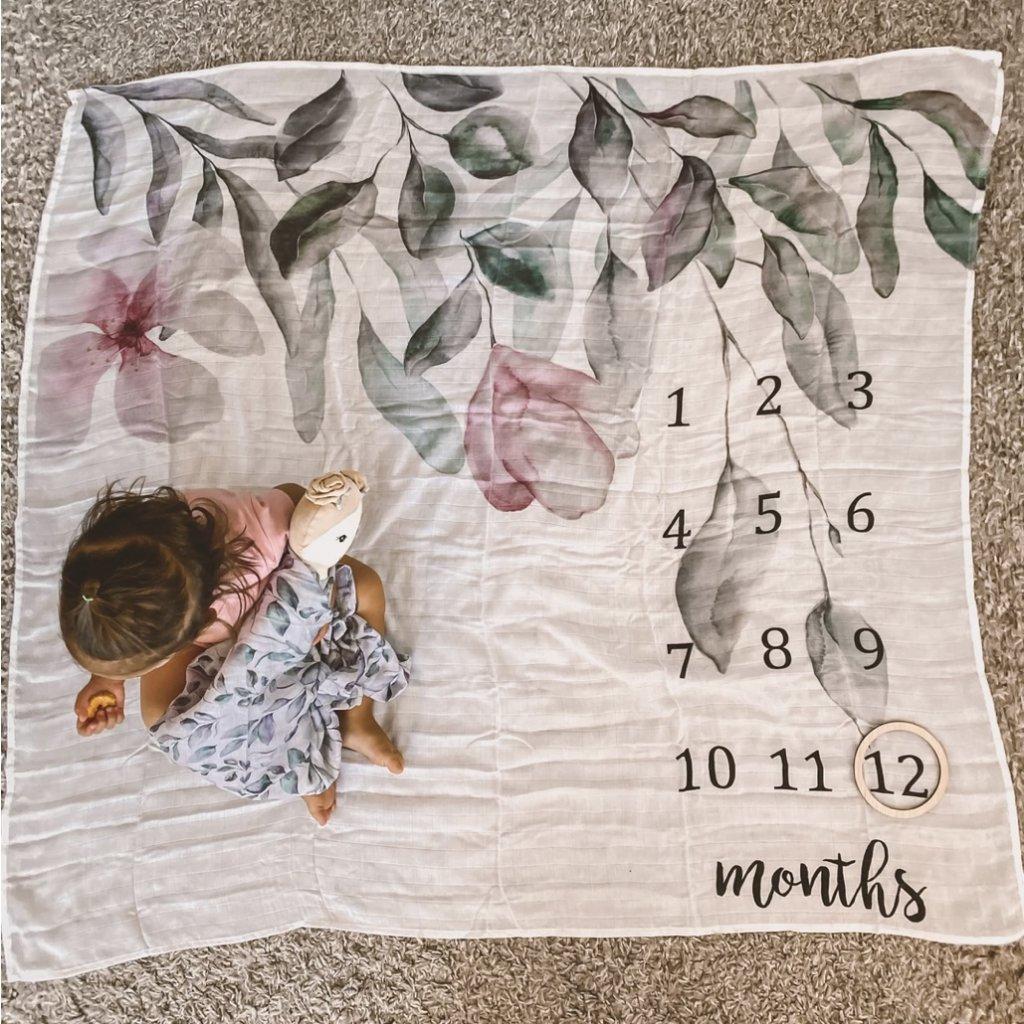 muselinova plenka prikryvka milnikova deka kvety babys breath