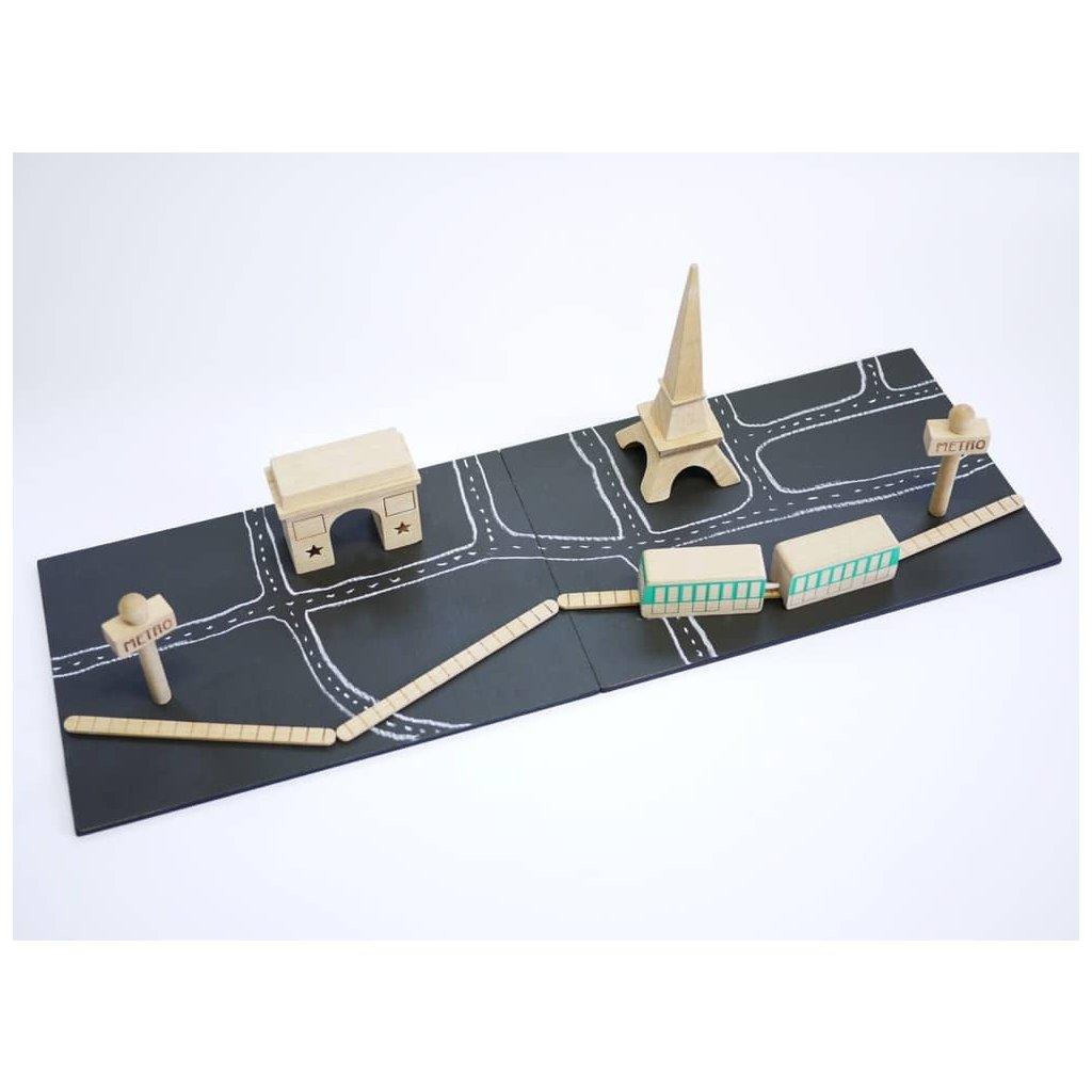 drevene mesto kostky pariz