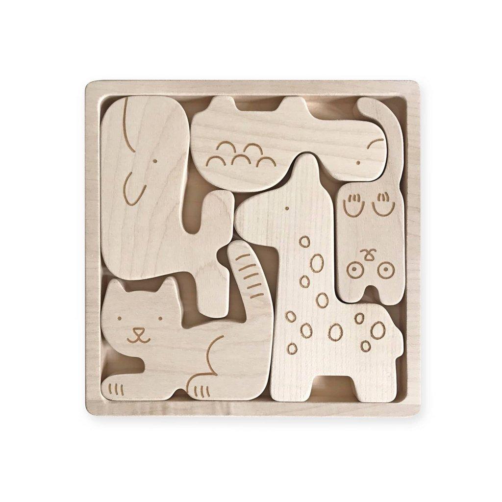 drevene puzzle zvirata