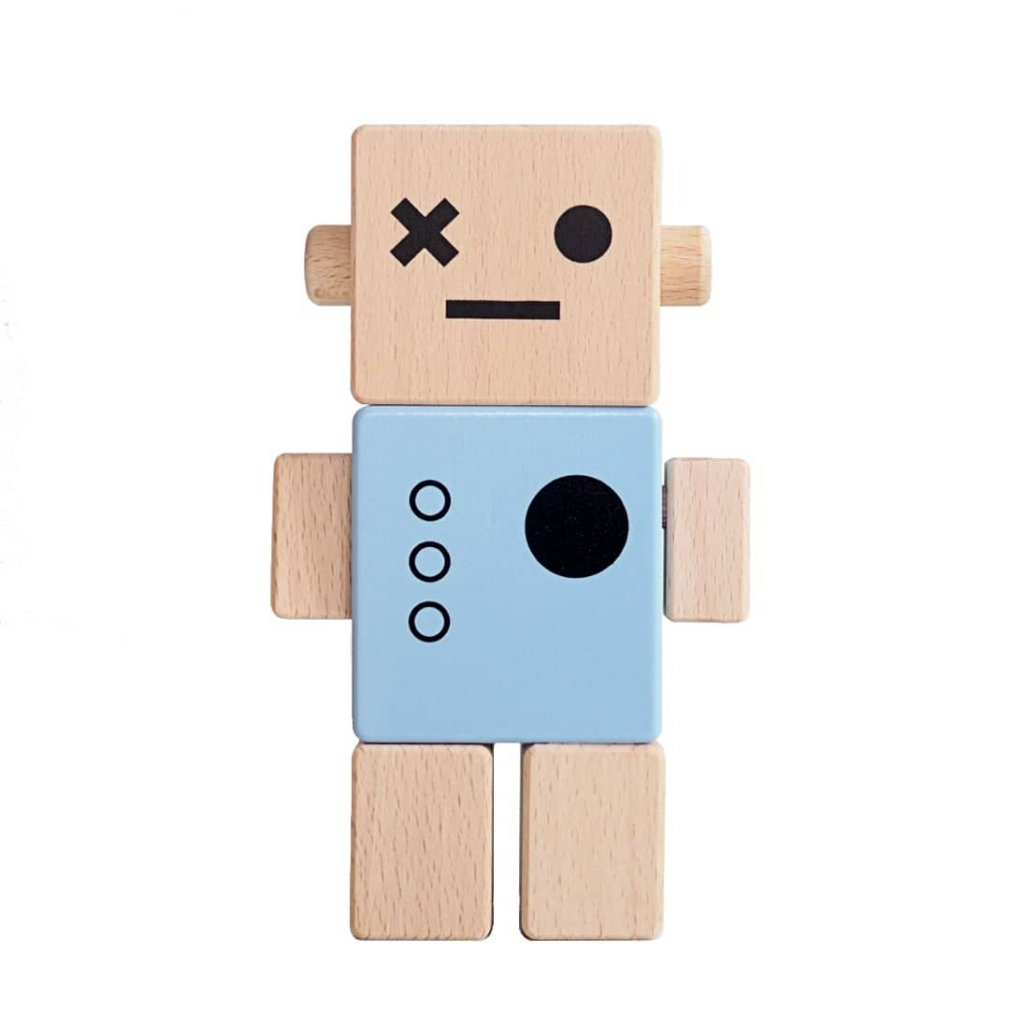 drevena hracka pro deti robot