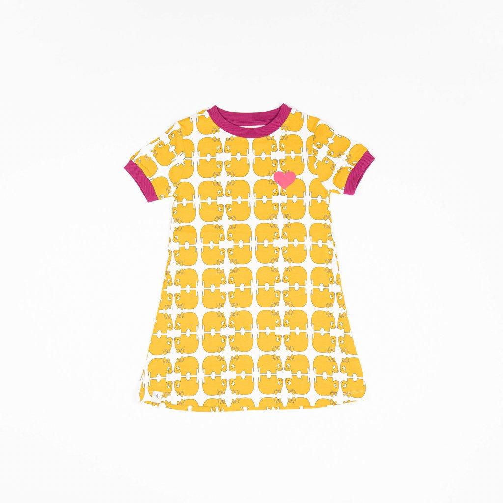 detske divci saty se vzorem zlute alba of denmark