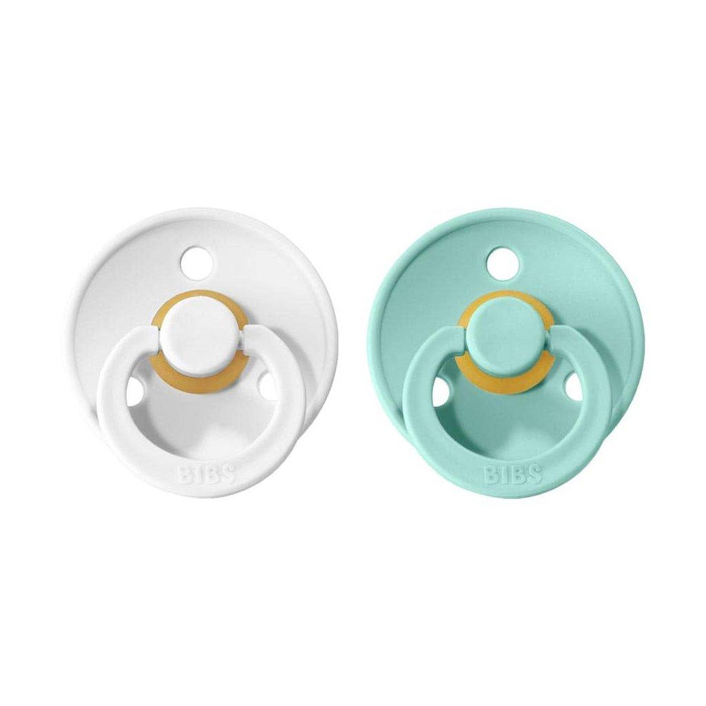 BIBS Colour cumliky 2ks White Mint