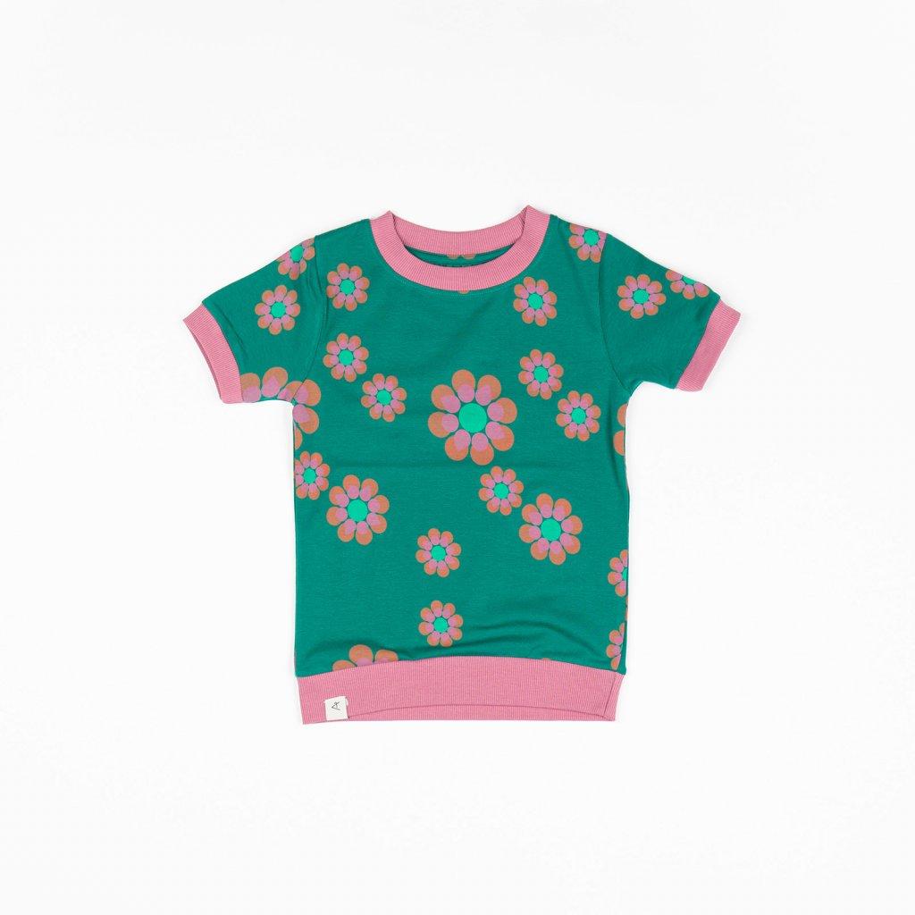 divci detske tricko kvetovane zelene alba of denmark