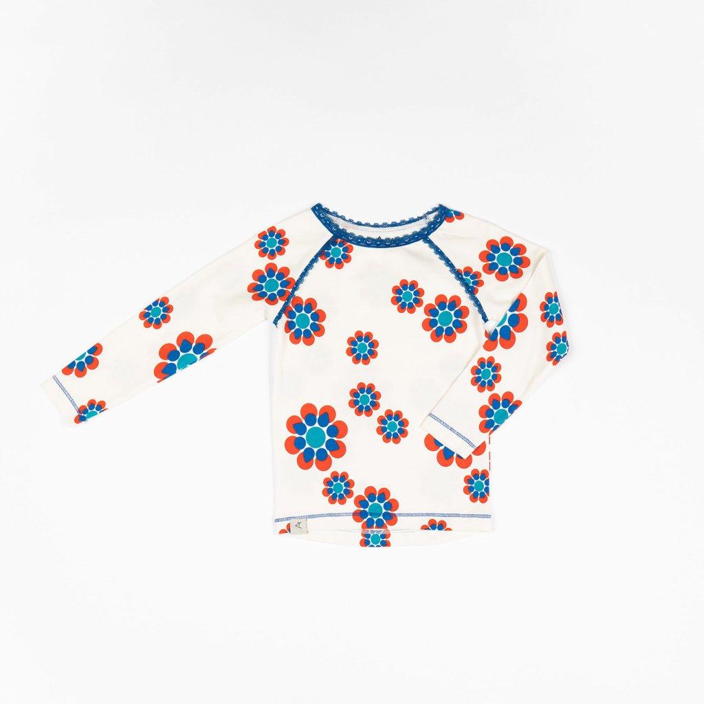 divci detske tricko kvetovane bile alba of denmark