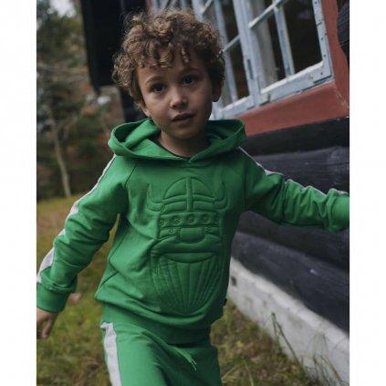 chlapecka detska mikina zelena danefae