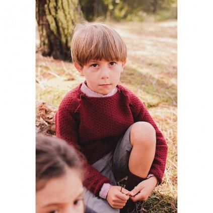 detsky chlapecky svetr vinovy grace baby and child