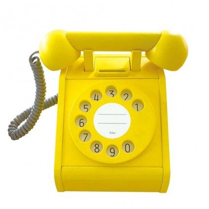 dreveny telefon zluty kiko